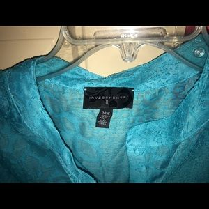 Investments Tops - Sheer Turquoise Blouse From Dilliards
